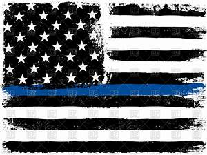 American Flag with Thin Blue Line Royalty Free Vector Clip ...