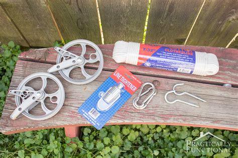 diy pulley clothesline