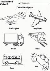 Transportation Coloring Pages Preschool Means Worksheets Worksheet Mixer Cement Land Theme Air Kindergarten Coloringpages Activities Printables English Transport Printable Teacher sketch template
