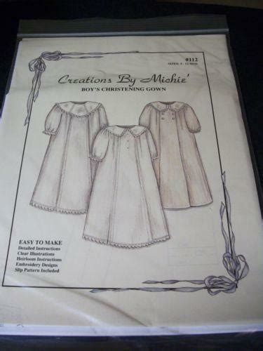 christening gown patterns ebay
