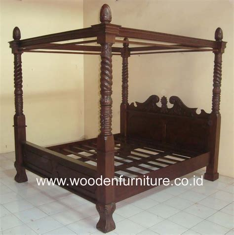 vintage canopy bed teak canopy bed wooden four posters bed antique reproduction bed vintage bedroom furniture