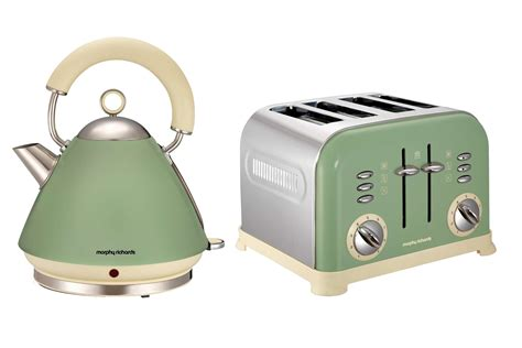 morphy richards kettle and toaster set morphy richards metallic accents kettle and retro 4 slice