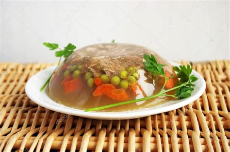 aspic cuisine cuisine pork aspic stock photo joannelle 54361345