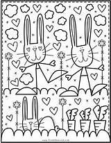 Coloring Bunny Rabbit Pond Easter Club Colouring Summer Dibujos Fairy Fromthepond Pasen Actividades Printable Books Kleurplaten Afkomstig Guardado Desde Colorear sketch template