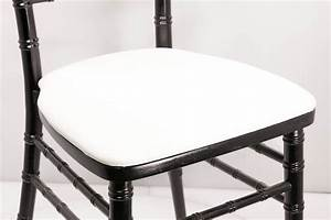 white vinyl chiavari board cushions chiavarichairscom With chiavari chair cushion covers wholesale