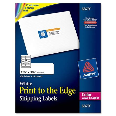 avery rectangle    color printing label