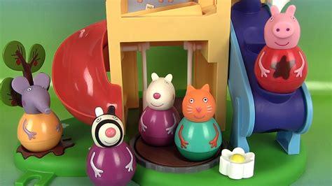 jeux de peppa pig cuisine peppa pig figurines culbuto aire de jeux weebles wind