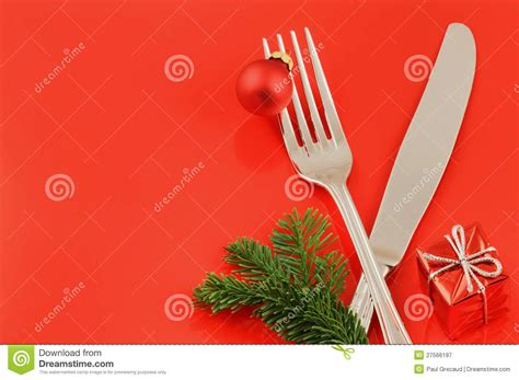 christmas menu concept  red background stock image