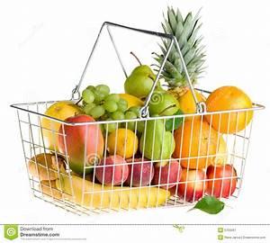 Panier A Fruit : panier de fruit sur le blanc image stock image du organique isolement 5755567 ~ Teatrodelosmanantiales.com Idées de Décoration