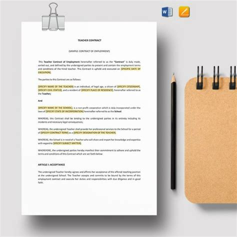 employee contract templates samples examples