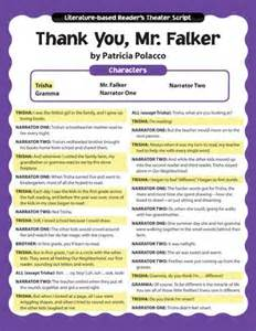 Thank You Mr. Falker Activities