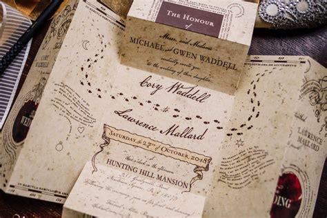 harry potter wedding filled  magical details
