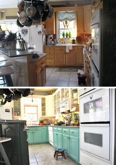 kitchen cabinet makeover ideas paint before and after 25 budget friendly kitchen makeover 7883
