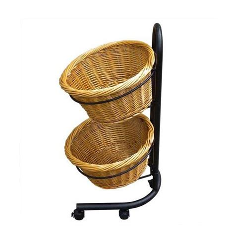 Mobile Display Stands by Mobile Basket Stand Wicker Baskets Wicker