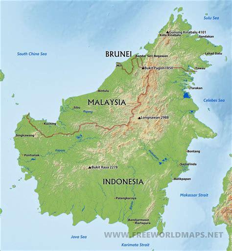 borneo map  soroptimist international