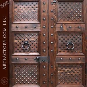Spanish, Renaissance, Style, Door, With, Hand, Forged, Iron, Hardware