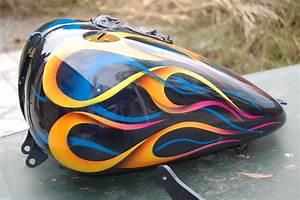 Maryline Garbe, peinture moto custom