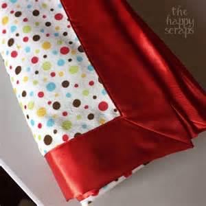 self binding minky satin baby blanket the happy scraps