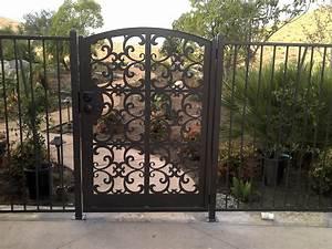 Iron gates metal garden gates for sale for Wrought iron garden gate