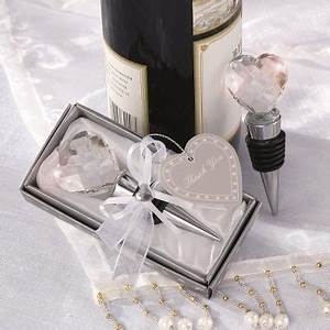 crystal heart bottle stopper wedding favor wedding With wedding favor bottle stopper