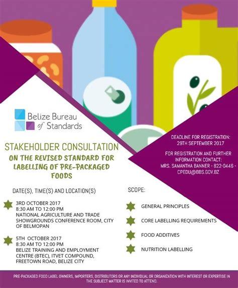 bureau of product standards belize bureau of standards tells enterprises to package