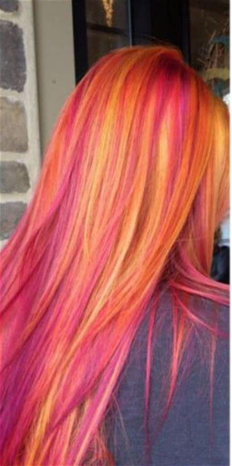 Sunset Hair Color Hairstyles Pinterest Sunset Hair