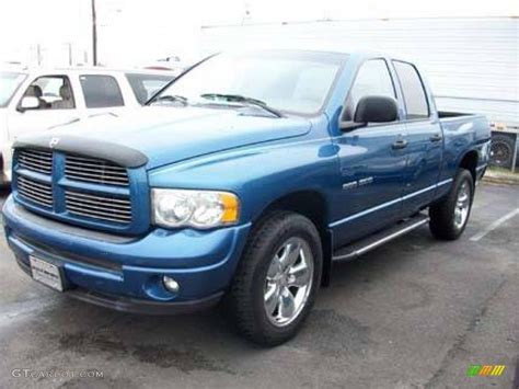 atlantic blue pearl dodge ram  sport quad cab