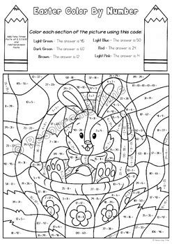 easter color  number  operations  spelling