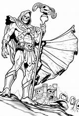 Deviantart Skeletor Coloring Adult Comic Colouring Printable Comics Dog Fan Books Face Behind Version Universe Heman Thundercats Character Line Desenhos sketch template