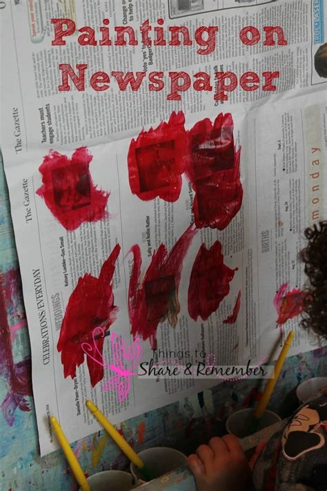 newspaper ideas  preschoolers
