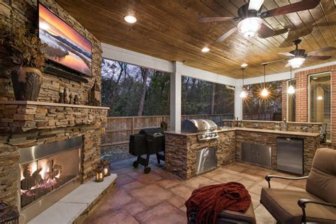 outdoor living kitchens fire pits pergolas  pool decks