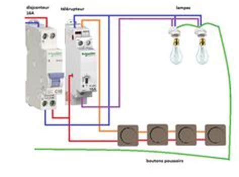 schema telerupteur en branchement  fils schemas