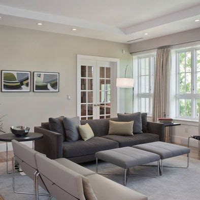 living room gray couch tan wall for the home living