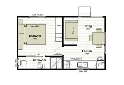 Floor Plans Cabins by Cabin Floor Plans Oxley Anchorage Caravan Park