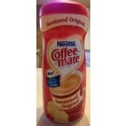 You can stir it into your coffee instead. Coffee-mate Sweetened Original Coffee Creamer: Calories, Nutrition Analysis & More | Fooducate