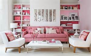 Retro Pink Bathroom Decor by A Contemporary Living Room Inspiration With A