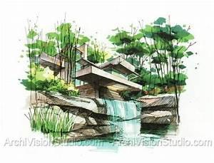 garden screening ideas 手绘 Pinterest Perspectiva, Arquitectura y Acuarela