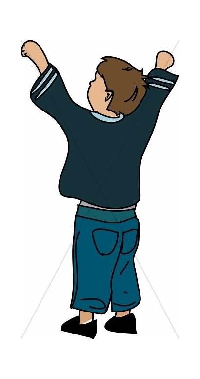 Praise Clipart Worship Worshiping Silhouette Boy Graphic