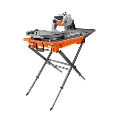 home depot standing ls ridgid 8 in tile saw with stand r4040s the home depot