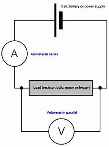 Simple Circuit Diagram With Ammeter And Voltmeter