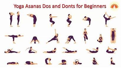 Yoga Beginners Asanas Poses Exercise Dos Beginner