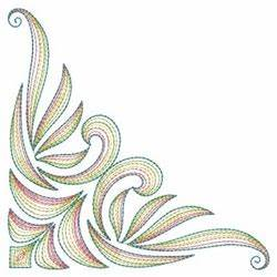 Neon Rippled Corner Embroidery Designs Machine Embroidery