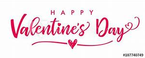 Quot Lettering Happy Valentines Day Banner Valentines Day