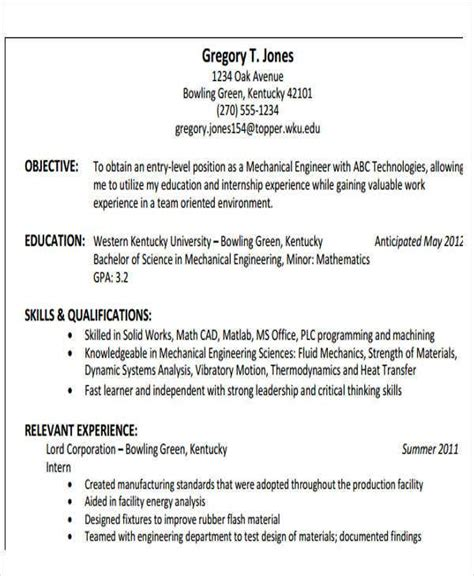 engineering resume samples    premium