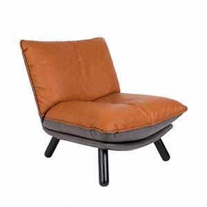 Fauteuil Simili Cuir : fauteuil lounge simili cuir lazy sack zuiver ~ Teatrodelosmanantiales.com Idées de Décoration