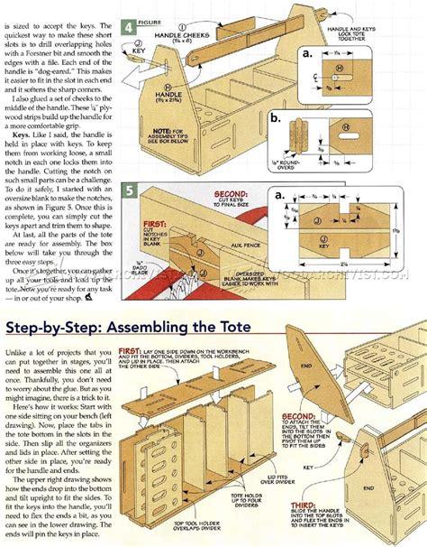 Tabandslot Tool Tote Plans • Woodarchivist