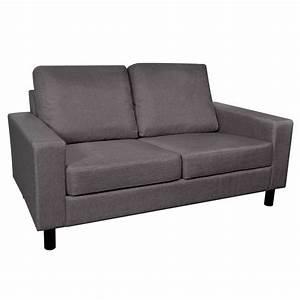 2 Sitzer Sofa Günstig : sofa 2 sitzer dunkelgrau g nstig kaufen ~ Frokenaadalensverden.com Haus und Dekorationen