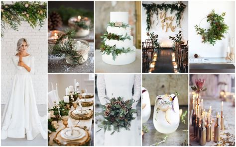 idees  inspirations pour  mariage dhiver pepites
