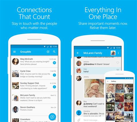 groupme for android microsoft updates groupme app for android with material