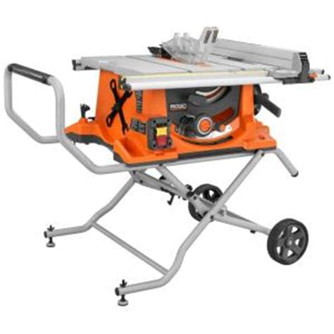 ridgid 15 10 in compact table saw ridgid 15 10 in heavy duty portable table saw with